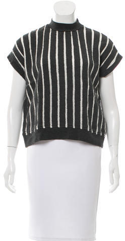 Alexander Wang T by Alexander Wang Striped Open Knit Top