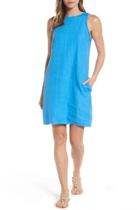 Women's Tommy Bahama Two Palms Frayed Trim Shift Dress $118 thestylecure.com