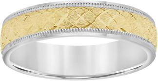 Keepsake 10kt Yellow Gold over Sterling Silver Men's Wedding Band, 5mm