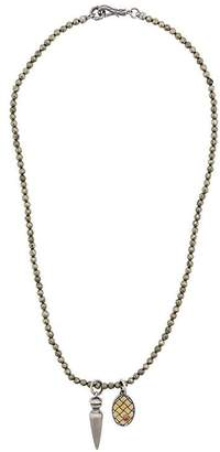 Bottega Veneta claw pendant necklace