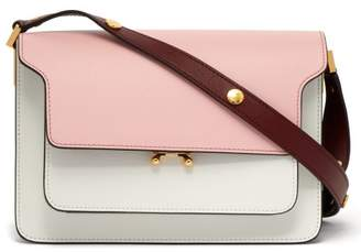 Marni Trunk Medium Leather Shoulder Bag - Womens - Pink Multi