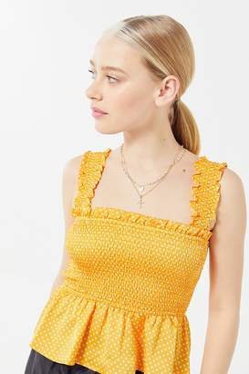 The Fifth Label Fountain Smocked Peplum Tank Top
