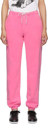 Erl ERL SSENSE Exclusive Pink Logo Lounge Pants