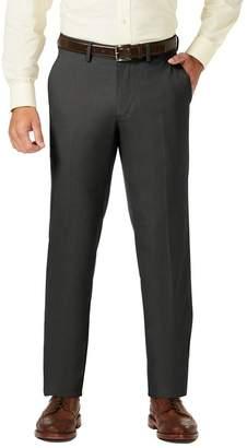"Haggar Sharkskin Stretch Straight Fit Flat Front Dress Pants - 29-34\"" Inseam"