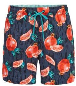 BOSS Hugo Fruit Print Swim Trunk Threadfin M Open Grey