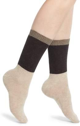 Nordstrom Colorblock Cashmere Blend Crew Socks