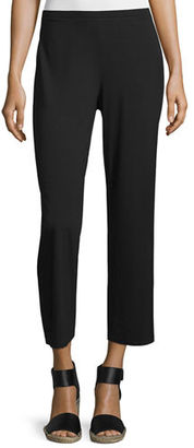 Eileen Fisher Easy Jersey Cropped Pants, Petite $128 thestylecure.com