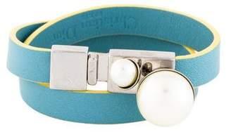 Christian Dior Mise en Faux Pearl Wrap Bracelet