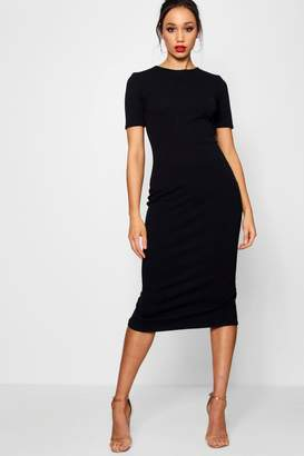 boohoo Tall Short Sleeve Tailored Midi Dress