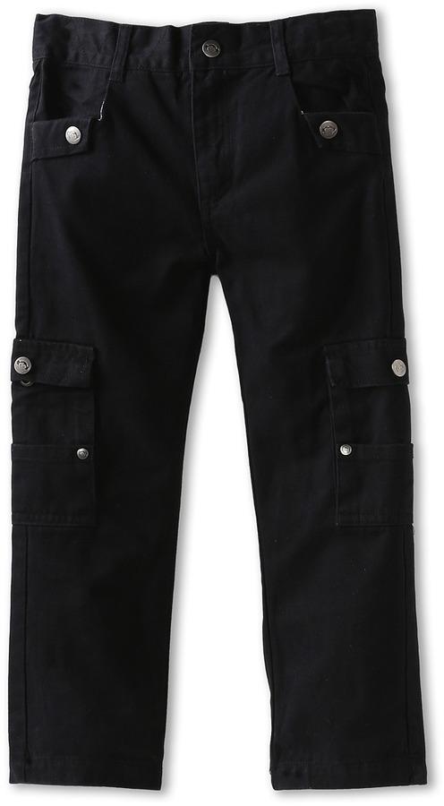 Appaman Kids - Boys' Soft Twill Straight Leg Cargo Pant (Toddler/Little Kids/Big Kids) (Black) - Apparel