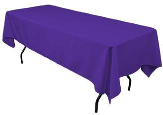 "Hunter Gee Di Moda Rectangle Tablecloth - 60 x 102"" Inch - Charcoal Rectangular Table Cloth for 6 Foot Table in Washable Polyester - Great for Buffet Table"