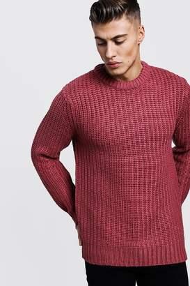 boohoo Chunky Fisherman Knit Sweater