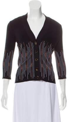 Fendi Long Sleeve V-neck Cardigan