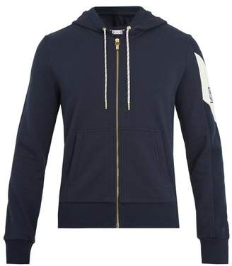 Moncler Gamme Bleu Hooded Zip Through Cotton Sweatshirt - Mens - Navy