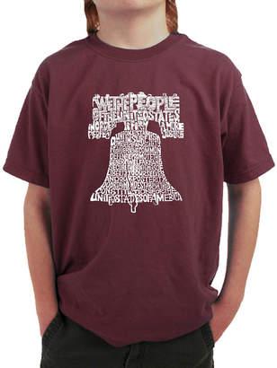 LOS ANGELES POP ART Los Angeles Pop Art Liberty Bell Graphic T-Shirt Boys