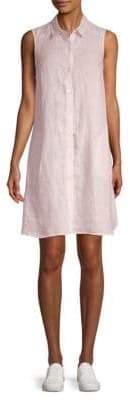 Saks Fifth Avenue Sleeveless Linen Shirt Dress