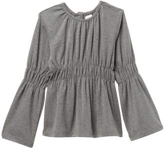 Couture Frenchie Mini Bell Sleeve Peasant Blouse (Baby, Toddler, Little Girls, Big Girls)