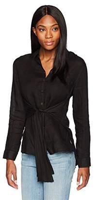Three Dots Women's lt Weight Linen Loose Long Shirt