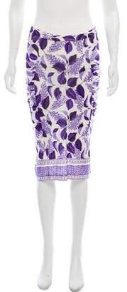 Just Cavalli Printed Pencil Skirt