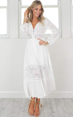Showpo Wild Imagination Maxi Dress In white