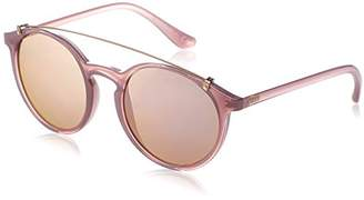 Vogue Women's Plastic Woman Non-Polarized Iridium Round Sunglasses