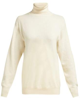 The Row Janillen Roll Neck Cashmere Sweater - Womens - Ivory