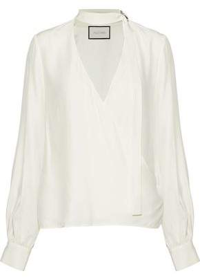 Alexis Wrap-Effect Silk Blouse
