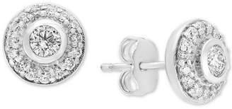 Effy Pave Classica Diamond Halo Stud Earrings (5/8 ct. t.w.)