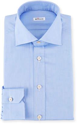 Kiton Broadcloth Dress Shirt, Blue