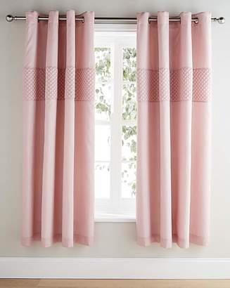 Fashion World Corine Embellished Lined Eyelet Curtains