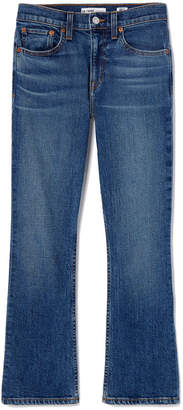 RE/DONE Mid-Rise Kick Flare Crop Jeans
