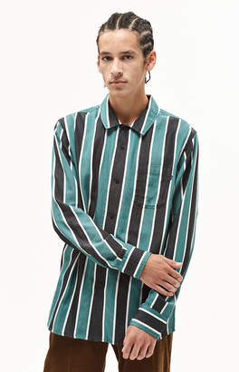 Obey Wicker Stripe Long Sleeve Button Up Shirt