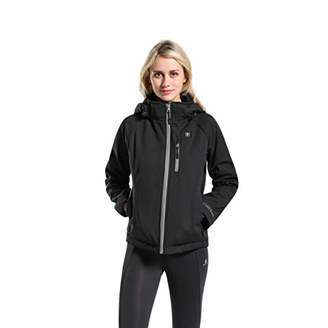 Mountain Leads Women's Slim Fit Jacket with Detachable Hood Waterproof Soft Shell Winter Coat XXL