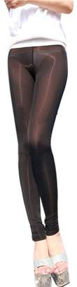 LinvMe Women's Sexy See Through Sheer Tight Pants Nylon Legging M