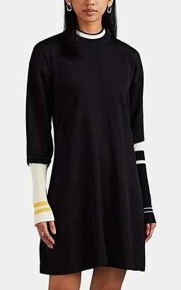 Calvin Klein Women's Rib-Knit-Trimmed Ponte Sweaterdress