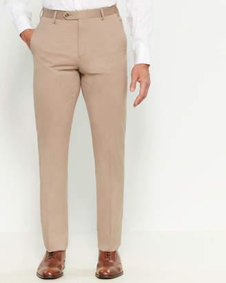 Zanella Brown Solid Devon Dress Pants