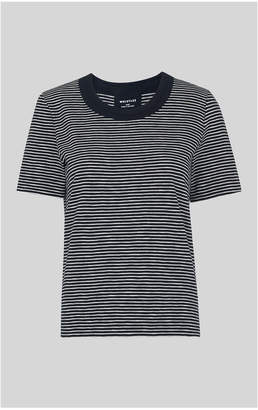 Whistles Stripe Rosa Double Trim Tshirt