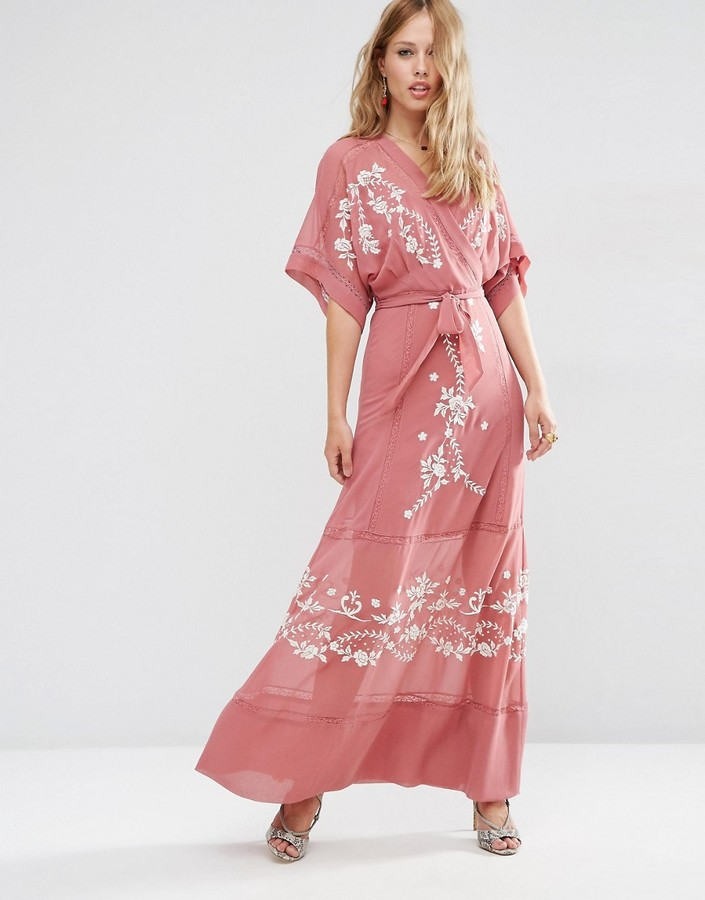 Asos ASOS PREMIUM Wrap Maxi Dress