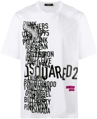 DSQUARED2 word print T-shirt