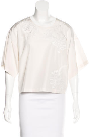 3.1 Phillip Lim 3.1 Phillip Lim Embroidered Short Sleeve Top