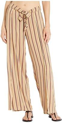 Becca by Rebecca Virtue South Hampton Stripe Mock Wrap Pants Cover-Up