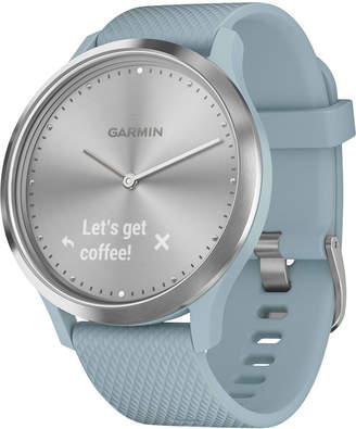 Garmin Unisex vivomove Hr Sport Seafoam Silicone Strap Hybrid Touchscreen Smart Watch 43mm