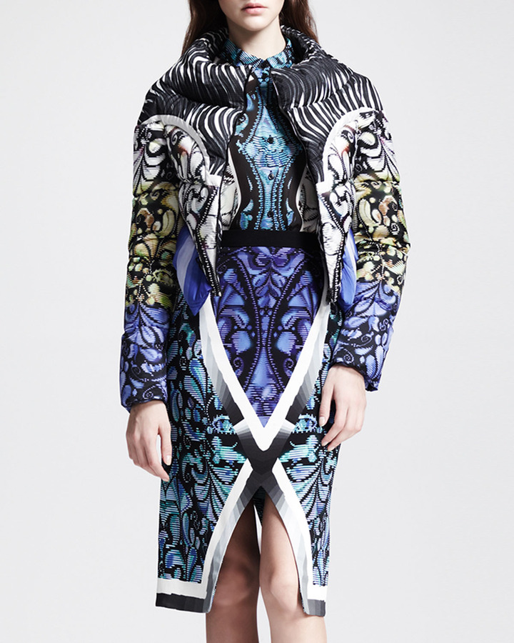 Peter Pilotto Printed Cropped Puffer Jacket