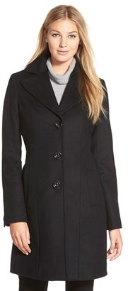 Women's Kristen Blake Single Breasted Wool Blend Coat $285 thestylecure.com