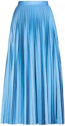 Maison Margiela Metallic pleated crepe midi skirt