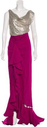 Naeem Khan Embellished Sleeveless Gown