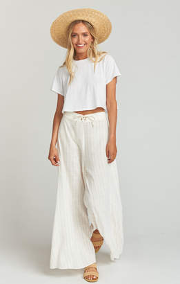 Show Me Your Mumu Pierre Pants ~ Red White and Ticking Stripe