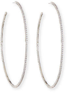 Fallon Armure Pavé Macro Hoop Earrings