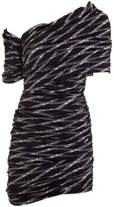 Balenciaga Monogram Asymmetrical Stretch Dress