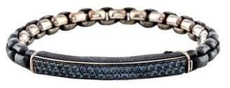 David Yurman Color-Change Garnet ID Bracelet